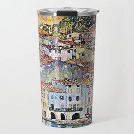 Gustav Klimt Malcesine on Lake Garda Travel Mug
