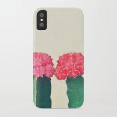 Plaid Cacti iPhone X Slim Case