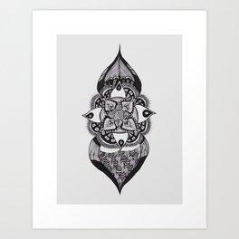 Onion Flower Art Print