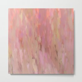 Pink Abstract Impressionism Metal Print