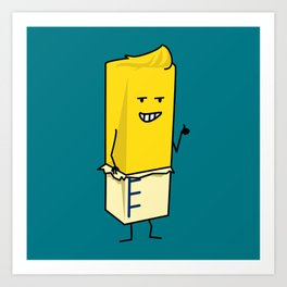 Buttered Buttery Stick of Butter Happy Thumbs Up Art Print