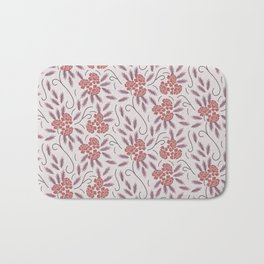 Indian flowers grey Bath Mat