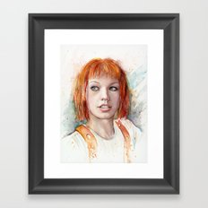 Leeloo Portrait Fifth Element Art Framed Art Print