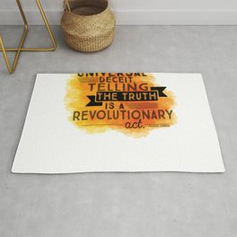 Revolutionary Act - quote design Rug