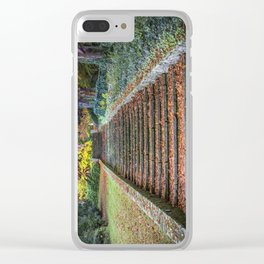 Autumnal Stairs Clear iPhone Case