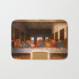 The Last Supper by Leonardo da Vinci  Jesus Christ Bath Mat