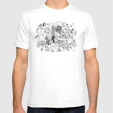 Grotesque Flora and Fauna Mens Fitted Tee White LARGE