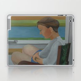 Woman in Chair Laptop & iPad Skin