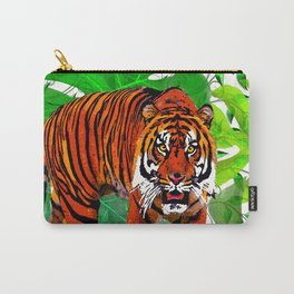 TIGERS AND PALMS BOTANNICAL INSPIRATION Carry-All Pouch