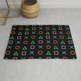 Classic Play Station Controller Buttons Rug