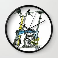 brompton Wall Clocks featuring My brompton standing up by Swasky