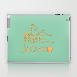 Valentine's Day Orange Peel Heart Laptop & iPad Skin