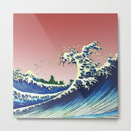 Japanese Waves Metal Print