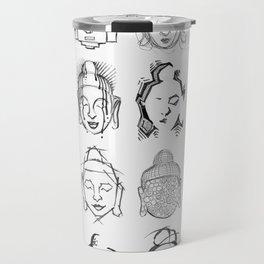 Many Buddhas Travel Mug