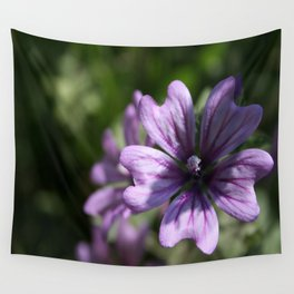 Mauve Mallow Wall Tapestry