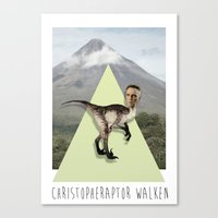 christopher walken Canvas Prints featuring Christopher Walken by Kalynn Burke