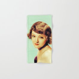 Myrna Loy, Actress Hand & Bath Towel