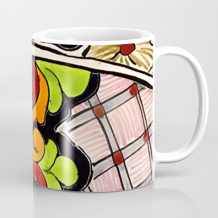 Beautiful Red and Green Talavera Coffee Mug