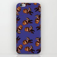 bucky iPhone & iPod Skins featuring RACCOON BUCKY by zombietonbo