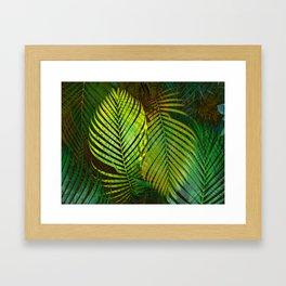 TROPICAL GREENERY LEAVES Framed Art Print