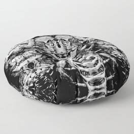 Mutated Skeleton Pillow Floor Pillow