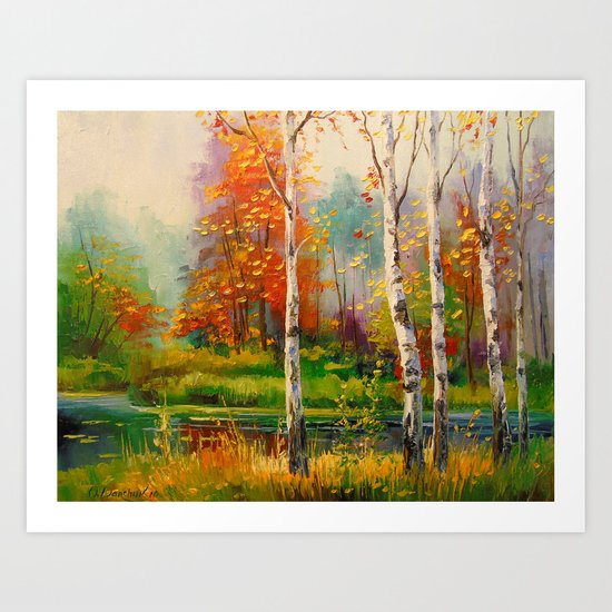 Melody of autumn Art Print