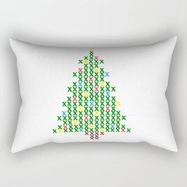 Cross Stitch Christmas Tree Rectangular Pillow