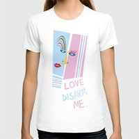 matisse T-shirts featuring LOVE DISARM ME (MATISSE INSPIRATION) by munfishvisualstudio