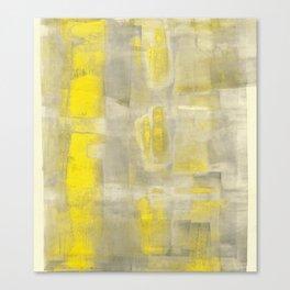 Stasis Gray & Gold 2 Canvas Print