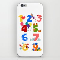 numbers iPhone & iPod Skins featuring numbers by Alapapaju