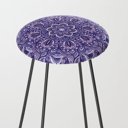 Great Purple Mandala Counter Stool