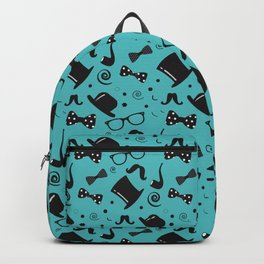 Hipster Elements Pattern on blue Backpack