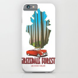 Grizdale Forest Lake District England map iPhone Case