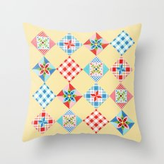 Country Days Patchwork Design Throw Pillow