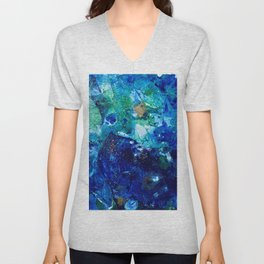 Look Down As The Rain Falls Into The Sea Unisex V-Neck