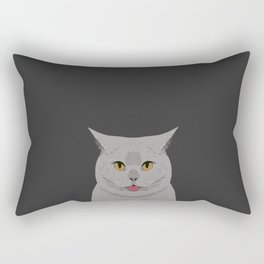 Kai - British shorthair cat gifts for cat lovers and cat lady gifts.  Cat people gifts Rectangular Pillow
