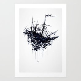 Shattered Ship Art Print