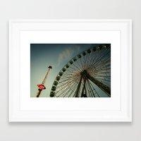 ferris wheel Framed Art Prints featuring FERRIS WHEEL by Studio70