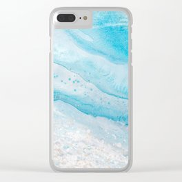 Ocean in motion Clear iPhone Case