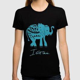 I got this blue elephant T-shirt