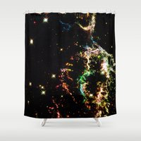 cosmic Shower Curtains featuring Cosmic by 2sweet4words Designs