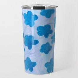 Bloomin' Blue Travel Mug