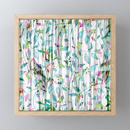 Ethereal Abstract Forest Floral Framed Mini Art Print