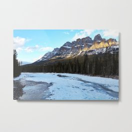 Castle Mountain Sunset Metal Print
