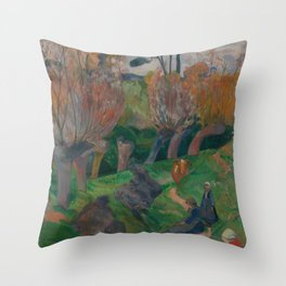 Paul Gauguin - Landscape, Bretagne (1889) Throw Pillow