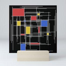 Mondrian Scratch Art 2 Mini Art Print