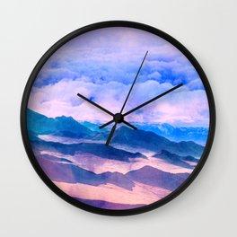 Blue Mountains Land Wall Clock