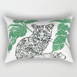 woodblock print Rectangular Pillow