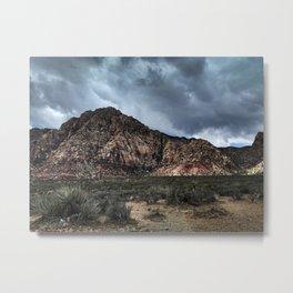 red rock doom sky Metal Print