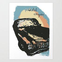 Powerful Engine Art Print